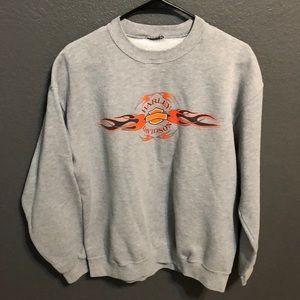 Gray Harley Davidson crew neck sweater size large.